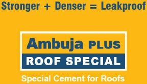 Ambuja Plus Roof Special Logo